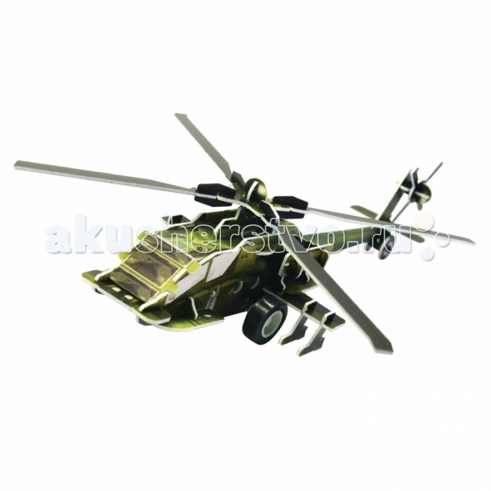 Конструктор IQ 3D Пазл Вертолет AH-64 инерционный 36 элементов3D Пазл Вертолет AH-64 инерционный 36 элементовIQ 3D Пазл Вертолет AH-64 инерционный 36 элементов FT20002  Вертолет AH-64 от компании IQ 3D Puzzle - это замечательная игрушка, которая представлена в разобранном виде, то есть ребенку придется собрать уменьшенную модель реально существующего вертолета самостоятельно. Вместе с элементами в комплекте имеется специальный моторчик, который вставляется в процессе сборки, именно он делает готовую игрушку инерционной.  Размер собранного вертолета: 11 х 11 х 3.4 см.<br>