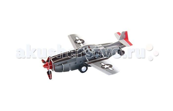 Конструктор IQ 3D Пазл Истребитель P-51 инерционный 20 элементов3D Пазл Истребитель P-51 инерционный 20 элементовIQ 3D Пазл Истребитель P-51 инерционный 20 элементов FT20003  3D Пазл Истребитель P-51 представляет собой модель американского истребителя, снабженную инерционным механизмом, которую ваш ребенок сможет собрать самостоятельно.   Особенности: - истребитель собирается из пластиковых деталей с отверстиями - сборка не требует использования клея - модель оснащена инерционным моторчиком и подвижной колесной базой - элементы 3D-пазла выполнены из безопасных материалов - игрушка развивает мышление и моторику рук  Размер собранной модели: 13 см.<br>