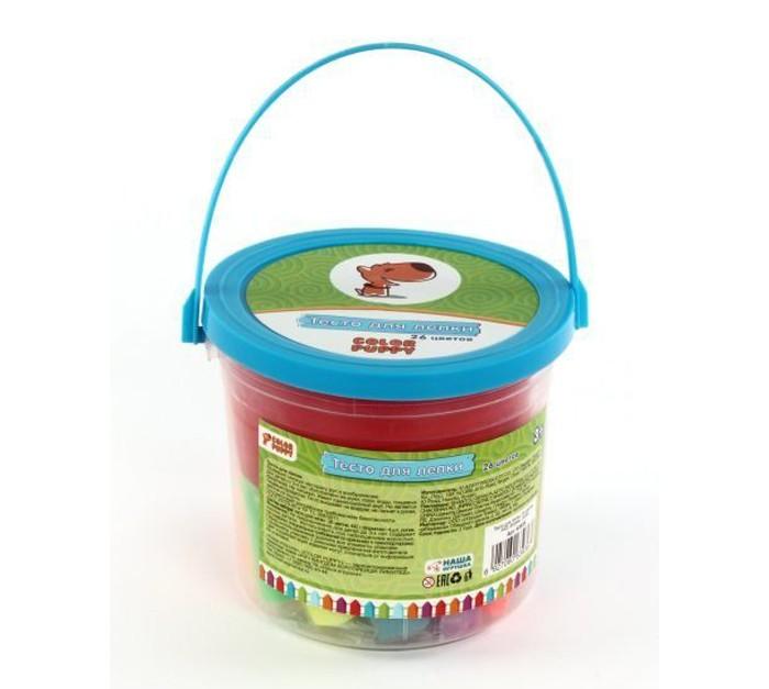 Color Puppy Тесто для лепки 26 цветов 442 г формы ролик Тесто для лепки 26 цветов 442 г формы ролик 63936