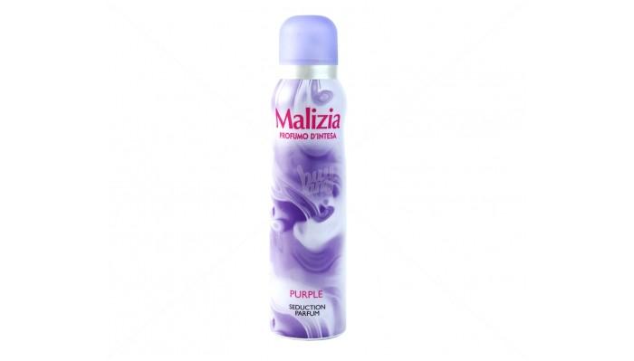 Malizia Дезодорант Parfum Deod Purple 150 млДезодорант Parfum Deod Purple 150 млMalizia дезодорант Parfum Deod Purple 150 мл с этим дезодорантом  будете чувствовать свежесть в течение всего дня.   Не оставляет пятна (даже на черной одежде), полностью нейтрализует неприятный запах пота и гарантирует длительную защиту от неприятного запаха.   Современный динамичный аромат идеален в любой ситуации. Его интенсивный аромат придает теплое ощущение благополучия.   Объем:150 мл.  Способ применения:встряхните баллон, распыляйте 2-3 секунды на сухую и чистую кожу в области подмышек с расстояния 15 см от тела. Не наносить на поврежденную и воспаленную кожу.<br>