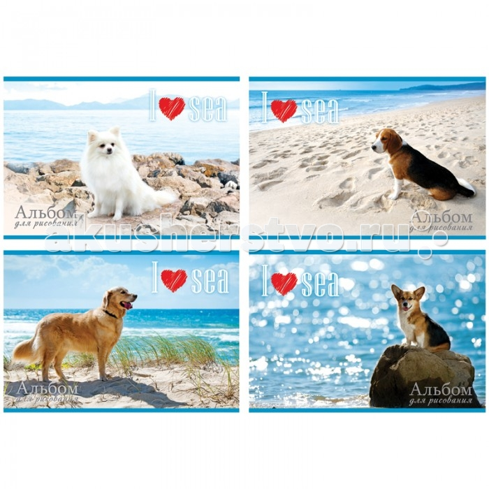 БиДжи Альбом для рисования Собаки и море на скрепке А4 (24 листов)Альбом для рисования Собаки и море на скрепке А4 (24 листов)Альбом для рисования Собаки и море на скрепке, в формате А-4. Обложка - мелованный картон. Внутренний блок - офсетный. 24 листов.  Основные характеристики:  Размер упаковки: 29,5 x 20,5 x 0,5 см Вес: 0,158 кг<br>