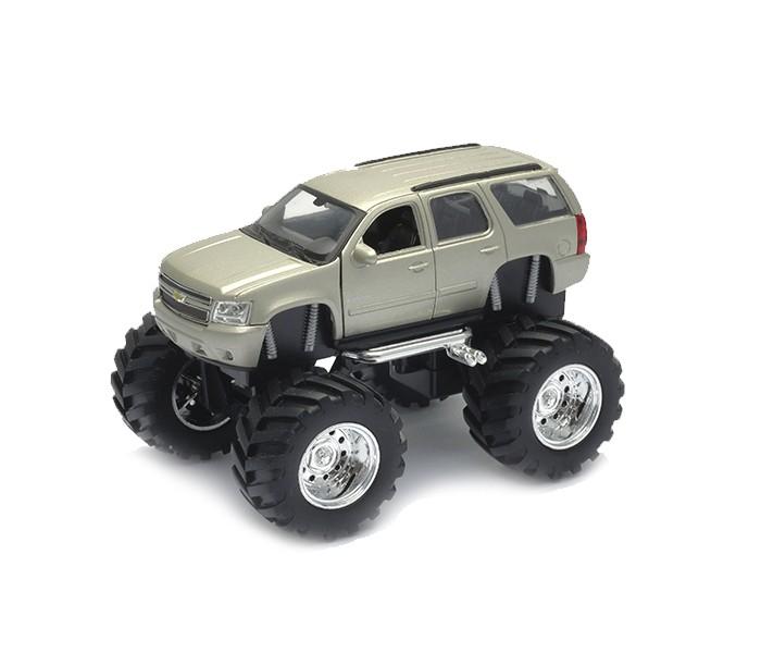Welly Модель машины 1:34-39 Chevrolet Tahoe Big WheelМодель машины 1:34-39 Chevrolet Tahoe Big WheelКоллекционная модель автомобиля Chevrolet Tahoe с большими колесами, выполненная в масштабе 1:34-39 порадует юного коллекционера отличной детализацией и качеством изготовления.   Корпус автомобиля выполнен из пластика, колеса – из резины, авто оснащено мощными металлическими амортизаторами.   Цвет кузова представлен в ассортименте.  Компания Welly, специализирующаяся на изготовлении масштабированных коллекционных машинок, известна с 1979 года и зарекомендовала себя как производитель качественных и высокодетализированных автомобилей самых различных марок. Модели представляют как коллекционную ценность, так и игровую.<br>