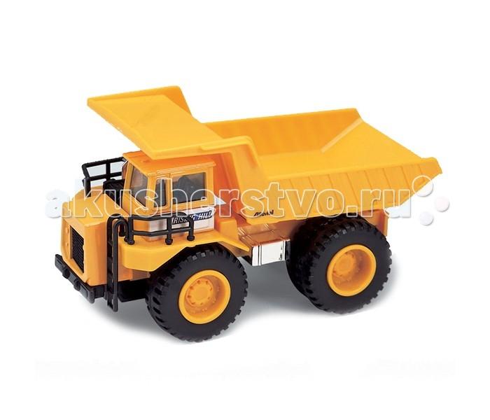 Welly Модель машины Карьерный самосвалМодель машины Карьерный самосвалИгрушечная модель карьерного самосвала от компании Welly – отличный выбор для юного любителя различного транспорта, а в особенности крупногабаритной строительной техники.   Модель оснащена функциональным кузовом и подвижными колесами. С такой игрушкой малыш будет с удовольствием играть, перевозя в самосвале другие игрушки и различные кубики.   Модель прекрасно детализирована и выглядит совсем как настоящий самосвал.   Корпус автомобиля выполнен из пластика, колеса – резиновые. Кузов и кабина окрашены в ярко-желтый цвет, который обязательно понравится ребенку.   Компания Welly, специализирующаяся на изготовлении масштабированных коллекционных машинок, известна с 1979 года и зарекомендовала себя как производитель качественных и высокодетализированных автомобилей самых различных марок. Модели представляют как коллекционную ценность, так и игровую.<br>