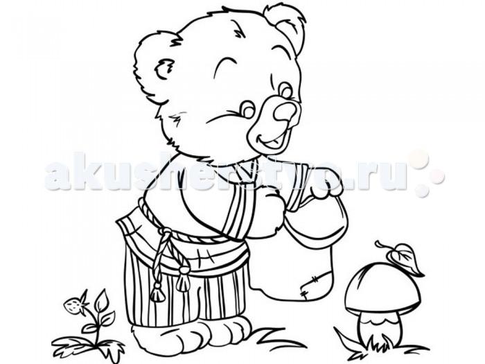 Раскраска Color Puppy Роспись по холсту Медвежонок 15 х 15 см