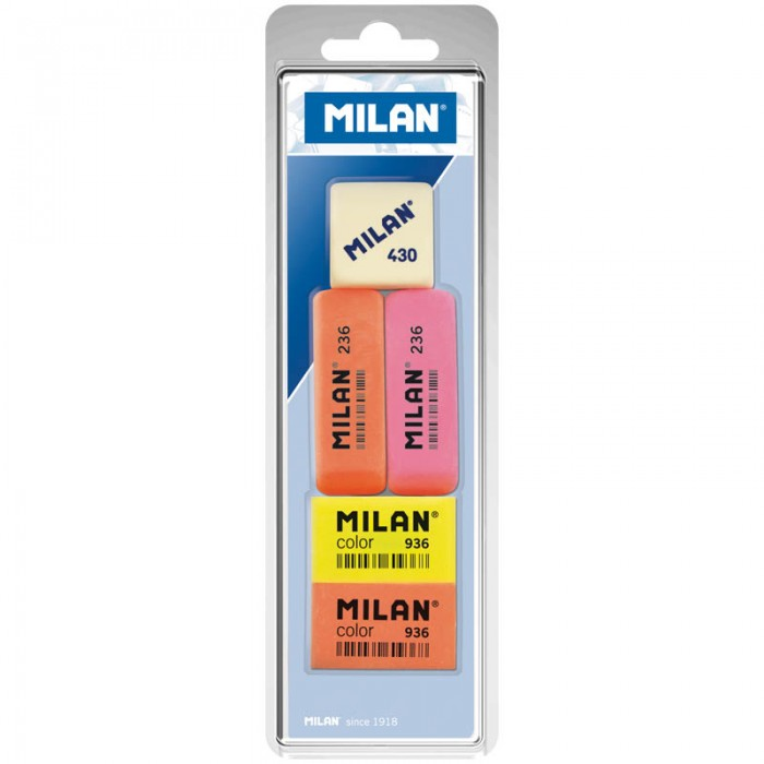 Milan Набор ластиков 236 Color 936 и 430, 5 шт.