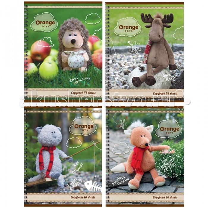 БиДжи Тетрадь Orange Life - Toys Ламинация А5 (48 листов)