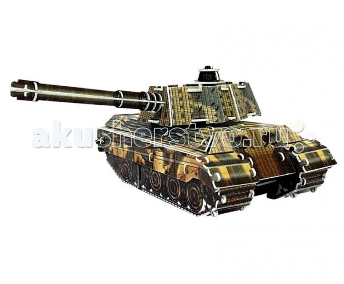 Конструктор IQ 3D Пазл Танк King Tiger инерционный 76 элементов3D Пазл Танк King Tiger инерционный 76 элементовIQ 3D Пазл Танк King Tiger инерционный 76 элементов FT20006  С помощью объемного пазла-конструктора ребенок сможет собрать интересную игрушку - модель бового танка. Конструктор состоит из ярких, хорошо прорисованных пластиковых деталей и просто собирается без клея и специальных инструментов - малыш сможет справиться и без помощи взрослых. А когда пазл будет собран, установите на него инерционный мотор и подвижную колесную ось - пазл превратится в замечательную игрушку, изготовленную своими руками.  Размер готовой игрушки: 10 см.<br>