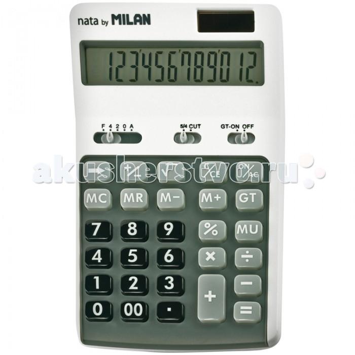 Milan Калькулятор настольный 10 разрядов двойное питание 174х107х34 ммКалькулятор настольный 10 разрядов двойное питание 174х107х34 ммКалькулятор настольный 10 разрядов двойное питание 174х107х34 мм Mix  Настольный 10-разрядный калькулятор с двойным питанием: солнечная батарея и батарея 1,5V<br>