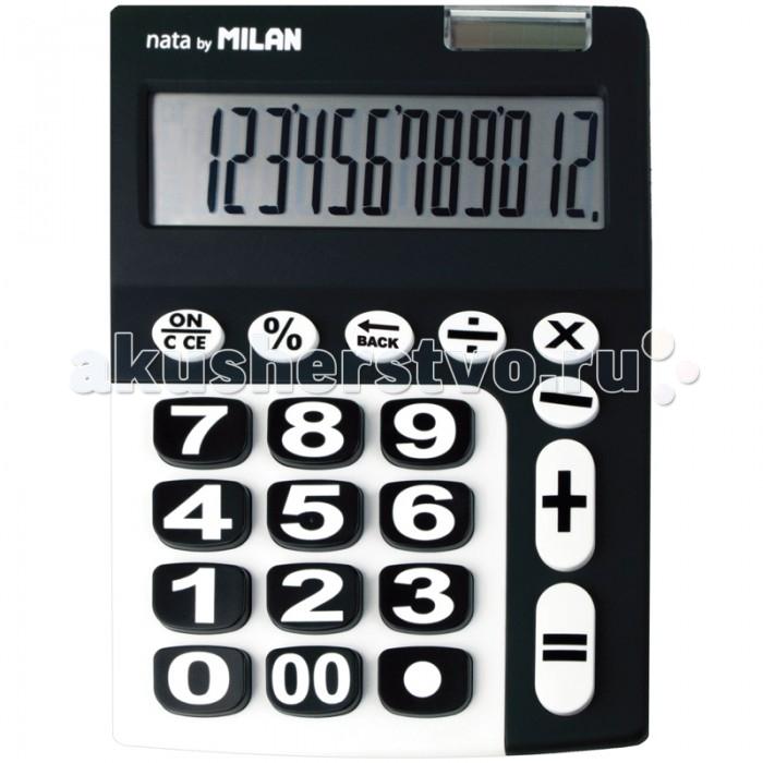 Milan Калькулятор настольный 12 разрядов двойное питание 225х140х30 ммКалькулятор настольный 12 разрядов двойное питание 225х140х30 ммКалькулятор настольный 12 разрядов двойное питание 225х140х30 мм  Настольный 12-разрядный калькулятор оригинальной расцветки.   Имеет двойное питание: солнечная батарея и батарея 1,5V.<br>