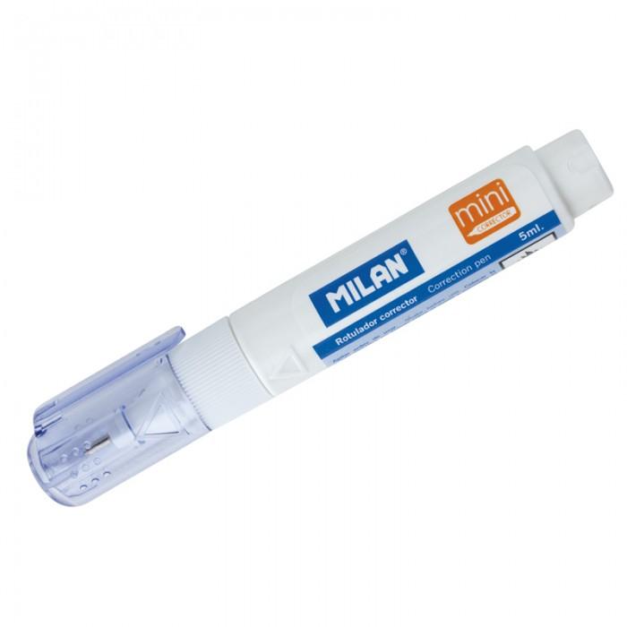 Milan Корректирующий карандаш 5 млКорректирующий карандаш 5 млКорректирующий карандаш 5 мл  Корректирующий карандаш. Объем - 5 мл. Система подачи жидкости - поршень. Применяется для точечных и мелких исправлений.   Подходит для любого типа бумаги и чернил. Металлический наконечник обеспечивает оптимальную подачу корректирующей жидкости.<br>