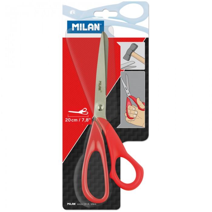 Milan Ножницы 20 смНожницы 20 смНожницы 20 см  Офисные ножницы с лезвием из нержавеющей стали.   Противоударная пластмассовая ручка.<br>