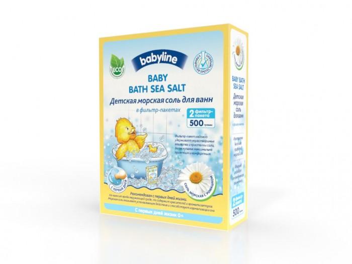 Babyline Детская морская соль для ванн с ромашкой 500 г от Акушерство