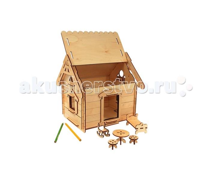 Конструктор Woody Мой домМой домКонструктор Woody Мой дом, состоящий из 74 деревянных элементов.  Особенности: Такой конструктор могут собирать и мальчики, и девочки, а также взрослые могут заинтересоваться таким интересным набором. В наборе имеются: сборные детали конструктора, мебель, инструкция, а также небольшой сюрприз - солнышко.  Этот конструктор можно не только собирать, но и раскрашивать по своему вкусу и фантазии. А также потом полноценно играть, используя конструкцию в качестве декорации.  Крышу домика можно поднимать, чтобы увидеть убранство комнаты. Такое занятие способствует развитию творческих и конструкторских способностей, логического мышления и внимательности.  Набор изготовлен из натурального сухого дерева без пропитки, края деталей хорошо отшлифованы и не имеют зазубрин.  Комплект: сборные детали конструктора, мебель, инструкция. Размер игрушки: 29 х 24 х 27 см.  Внимание! Краски в набор не входят.<br>