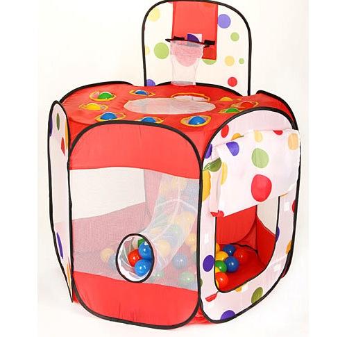 Палатки-домики Calida Дом-палатка + 100 шаров Многоугольник+Баскетб.кольцо