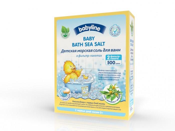 Babyline Детская морская соль для ванн с чередой 500 г от Акушерство