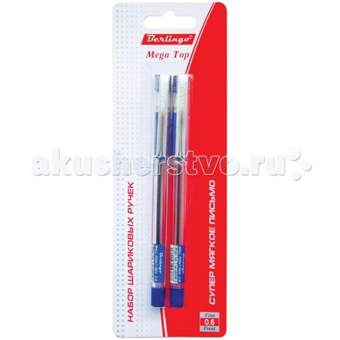 Berlingo Ручка шариковая Mega top цвет синий 2 шт.