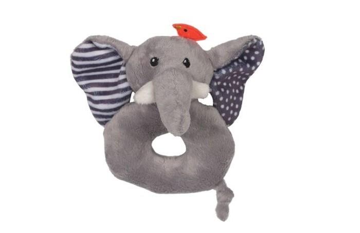 Погремушка Zoocchini СлонСлонПогремушка Слон Zoocchini  Мягкая, приятная на ощупь погремушка в виде любимого животного заставит вашего ребёнка улыбаться.   Отлично дополнит комплект с одеялом Zoocchini.<br>
