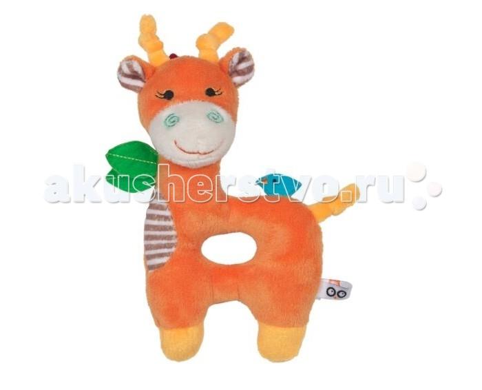 Погремушка Zoocchini ЖирафЖирафПогремушка Жираф Zoocchini  Мягкая, приятная на ощупь погремушка в виде любимого животного заставит вашего ребёнка улыбаться.   Отлично дополнит комплект с одеялом Zoocchini.<br>
