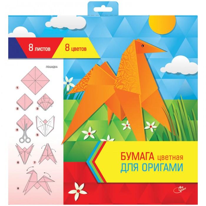 Спейс Цветная бумага для оригами и аппликации 300х300 мм 8 цветов в папке 8 листов Цветная бумага для оригами и аппликации 300х300 мм 8 цветов в папке 8 листов Нб8-8ор_4443