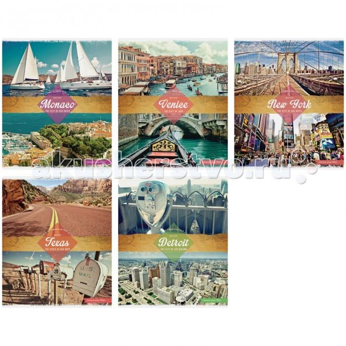 Спейс Тетрадь А5 клетка Путешествия My trip (40 листов)