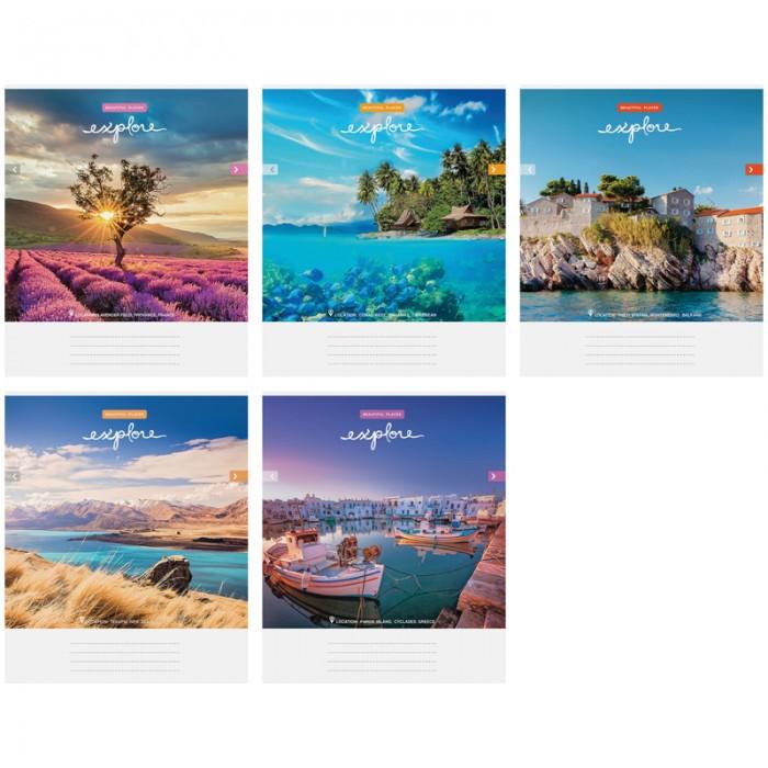 Спейс Тетрадь А5 клетка Путешествия Красивые виды (40 листов)