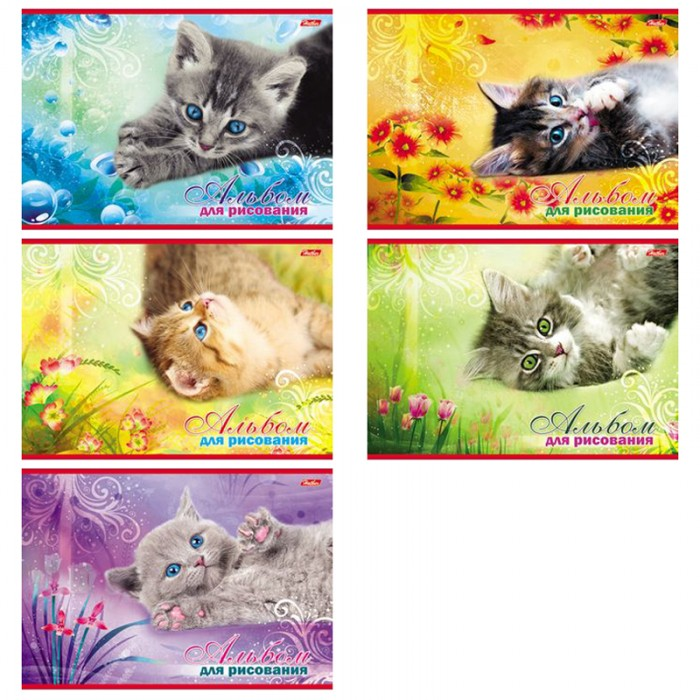 Hatber Альбом для рисования 20 листов Котята