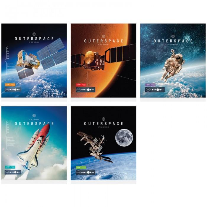 Спейс Тетрадь А5 клетка Космос Outerspace ТВИН-лак (48 листов)