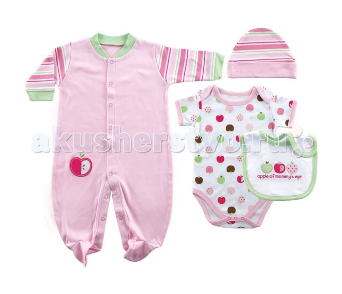 Подарочные наборы Hudson Baby Яблоко 55-61 (4 предмета)
