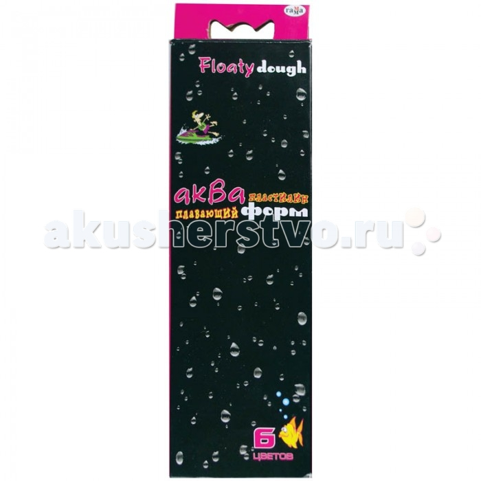 Гамма Пластилин Акваформ плавающий флуоресцентный 6 цветов