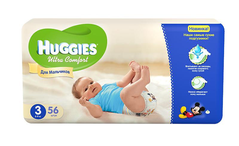 Huggies ���������� Ultra Comfort Jumbo ��� ��������� 3 (5-9 ��) 56 ��.