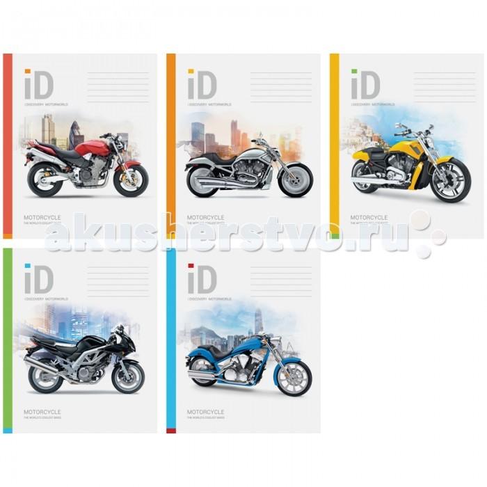 Спейс Тетрадь А5 клетка Мотоциклы выборочный УФ-лак (48 листов)
