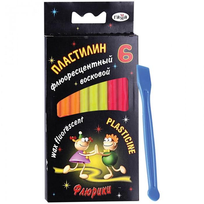 Гамма Пластилин Флюрики флуоресцентный 6 цветов