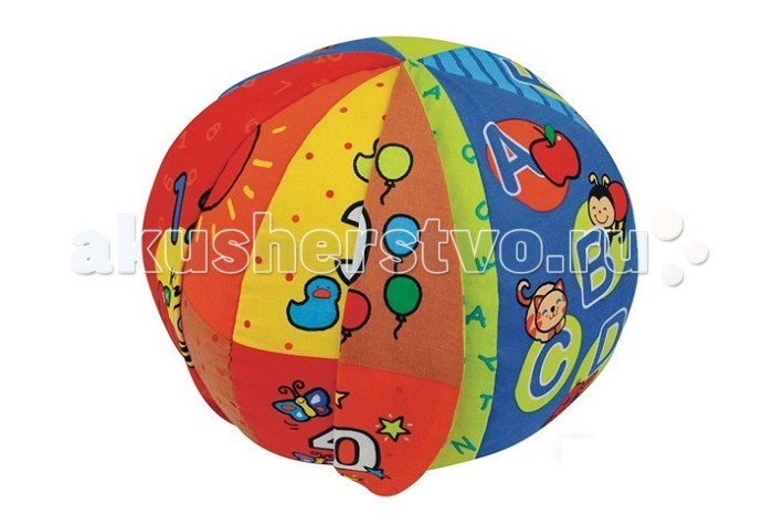 Развивающая игрушка KS Kids Говорящий мячГоворящий мячГоворящий мячик от Ks Kids - это удивительная игрушка, которая в игровой форме позволит Вашему ребенку выучивать слова и цифры или же сказать самое первое слово.   Мяч нужно кидать друг другу, а он будет говорить слово тому, кто держит его в руках. Малыш может сразу же повторить то, что услышал. Такая простая игра стимулирует ребенка к разговору. Говорящий мяч обладает красивым и ярким дизайном. Он приятный на ощупь и хорошо удерживается детскими ручками. Ребенок сможет не только развивать речевой аппарат, но также и координацию своих движений, ловкость, моторику пальцев и сенсорное восприятие.    Особенности:  игрушка русифицирована  материал: текстиль  диаметр мяча: 22 см. размер коробки: 19 х19х24 см. вес: 281 гр. мяч говорит и обучает цифрам, счету, цветам. Есть переключатель громкости можно стирать в стиральной машине после удаления электронной базы работа от 2-х батареек типа ААА  Батарейки: 2AAA<br>