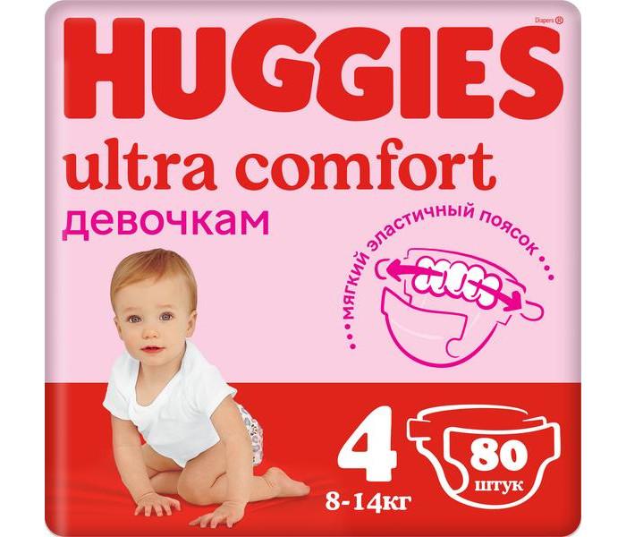 Huggies ���������� Ultra Comfort Giga Pack ��� ������� 4 (8-14 ��)  80 ��.