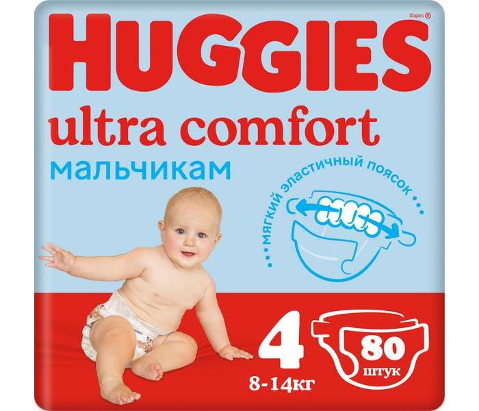 Huggies ���������� Ultra Comfort Giga Pack ��� ��������� 4 (8-14 ��)  80 ��.