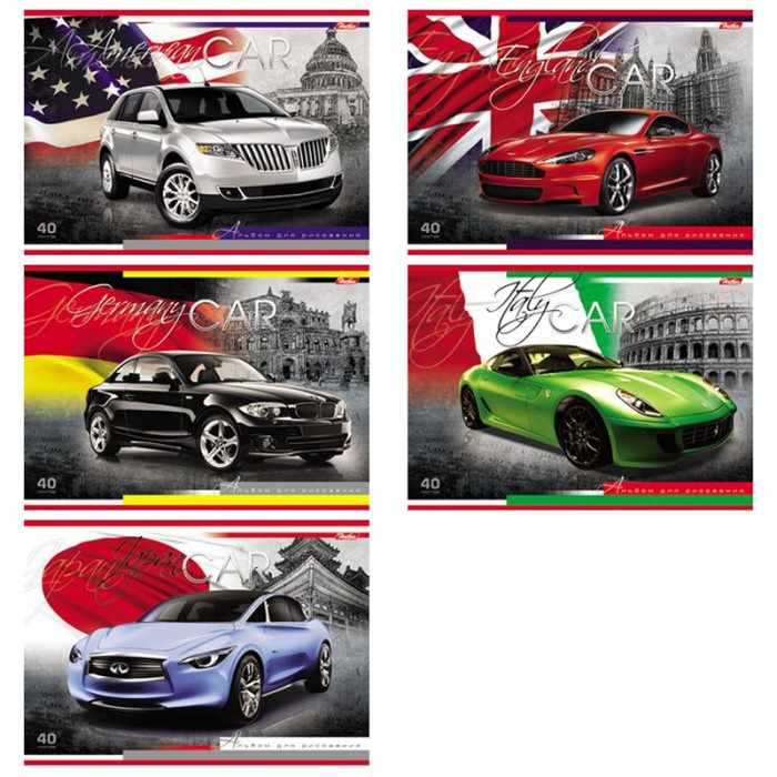 Hatber Альбом для рисования 40 листов Country Cars