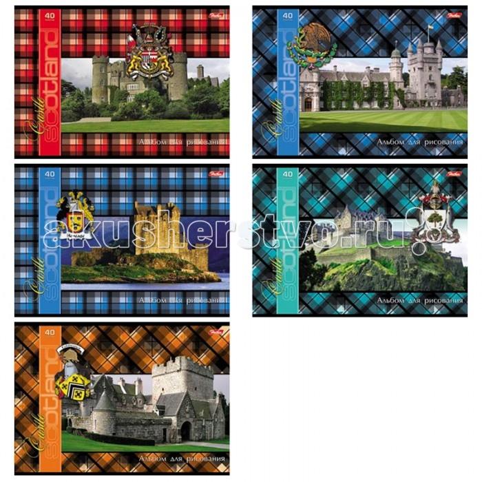 Hatber Альбом для рисования 40 листов Шотландка с замками