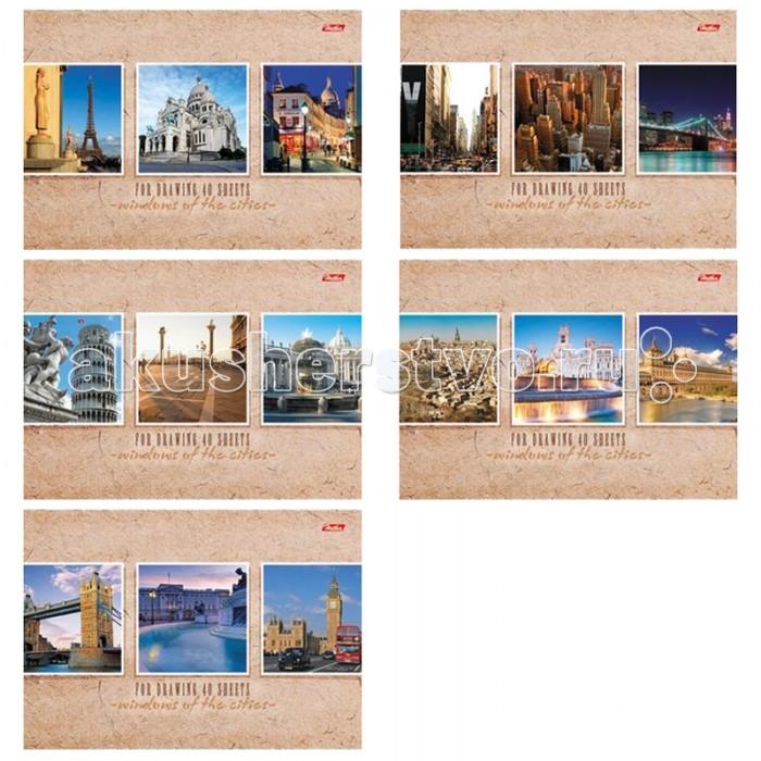 Hatber Альбом для рисования 40 листов Windows of the cities