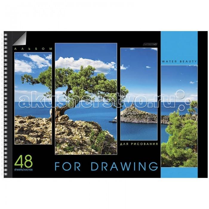 Hatber Альбом для рисования 48 листов HD Water beauty А3