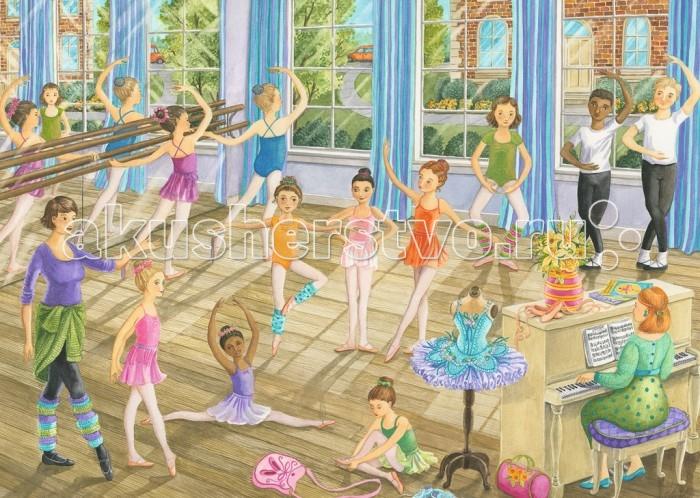 Ravensburger Пазл Урок балета 35 элементовПазл Урок балета 35 элементовRavensburger Пазл Урок балета 35 элементов 08779  На пазле фирмы Ravensburger изображены дети, учащиеся бальному искусству в просторном осветленном зале. Кто-то репетирует специальные движения, а кто-то занимается растяжками, которые так необходимы для изящного и грациозного танца. Собирая пазл, ребенок разовьет логическое мышление и получит удовольствие от результата, а также будет иметь представление об этом тонком искусстве.  Размер пазла в собранном виде: 28 х 20 см.<br>