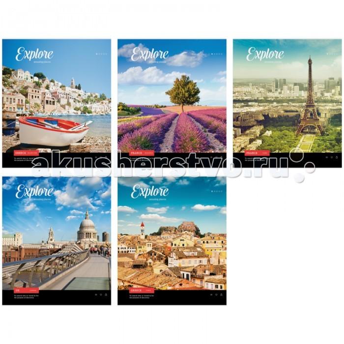 Спейс Тетрадь А5 клетка Путешествия Amazing place (48 листов)