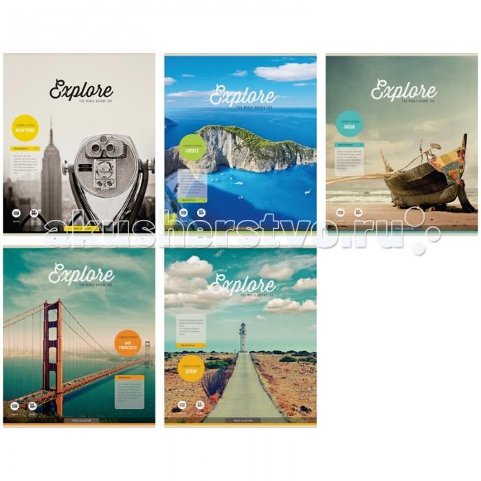 Спейс Тетрадь А5 клетка Путешествия Explore (48 листов)