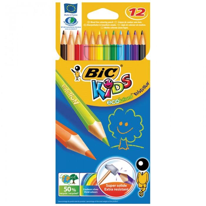 BIC Карандаши Evolution 93 заточенные 12 цветов