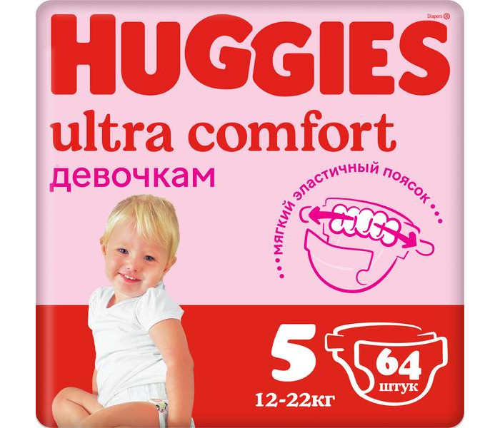 Huggies ���������� Ultra Comfort Giga Pack ��� ������� 5 (12-22 ��)  64 ��.