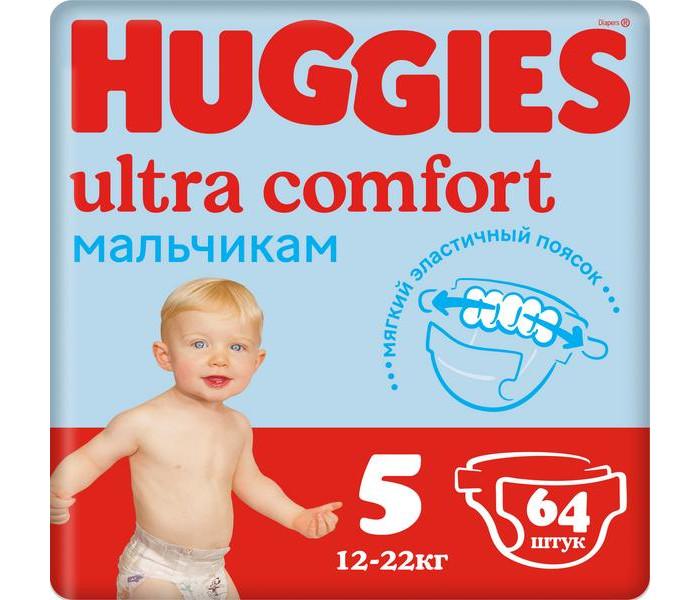 Huggies ���������� Ultra Comfort Giga Pack ��� ��������� 5 (12-22 ��)  64 ��.