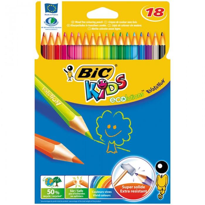 BIC Карандаши Evolution 93 заточенные 18 цветов