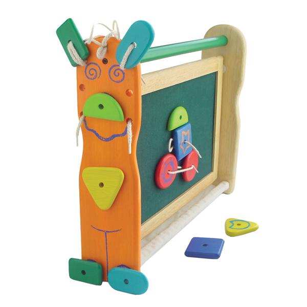 Доски и мольберты I'm toy Двусторонняя доска для рисования с фигурками на липучках
