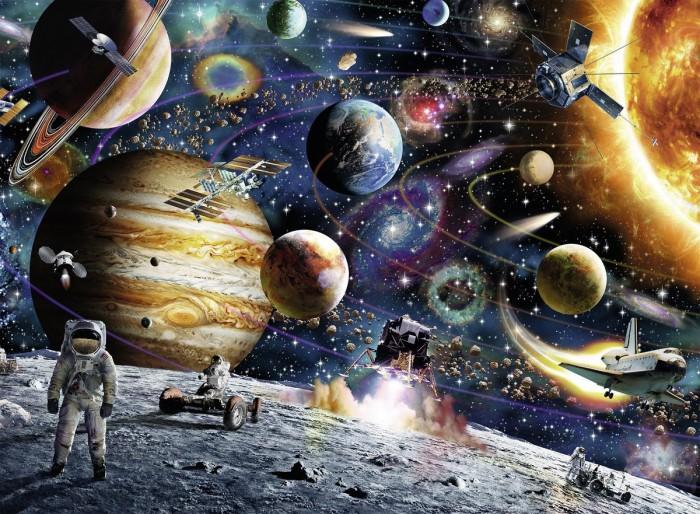Ravensburger Пазл Открытый космос XXL 150 элементовПазл Открытый космос XXL 150 элементовRavensburger Пазл Открытый космос XXL 150 элементов 10016  Любителям посмотреть на звездное небо, побывать в обсерватории и просто наслаждаться необъятной галактикой, немецкий бренд Ravensburger представляет Пазл XXL Открытый космос, состоящий из 150 элементов. Пазл довольно большой и увлекательный. За счет его размеров, которые составляют приблизительно 50 на 40 см, 150 его маленьких кусочков позволяют увлечься и погрузиться в атмосферу творения с головой.  Собрав пазл, можно насладиться картиной необъятной галактики с элементами человеческой цивилизации, что очень увлекательно как для мальчиков, так и для девочек.   Размер собранного пазла: 49 x 36 см.<br>