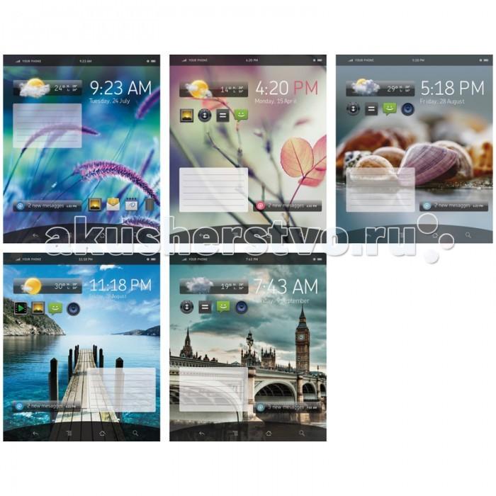 Спейс Тетрадь А5 клетка Телефон Экран глянцевый УФ-лак (48 листов)