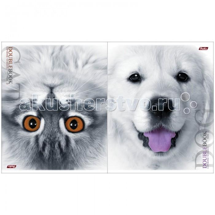 Hatber Тетрадь двойная Собака-Кот А5 (48 листов)
